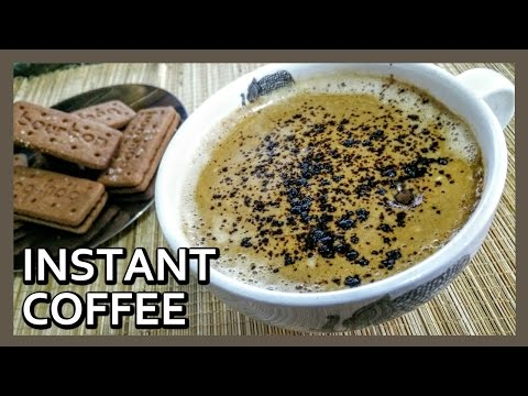 How to Make Instant Coffee   Best Instant Coffee Recipe   Kitchen Tips by Healthy Kadai