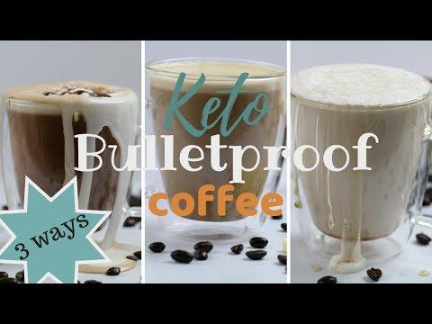 Keto Coffee THREE WAYS | How to Make Bulletproof Coffee | Keto Mocha | Low Carb Caramel Macchiato