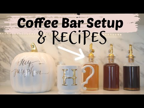 My Fall Coffee Bar Decor & Sweet Cream Cold Brew Recipe! MissLizHeart