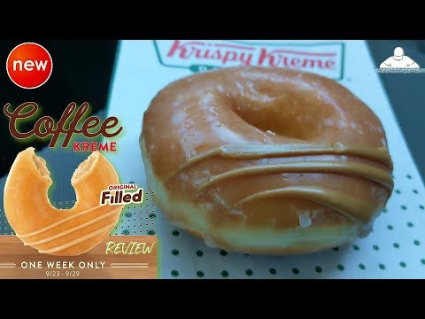 Krispy Kreme® Coffee Kreme Original Filled Doughnut Review! ☕🍩