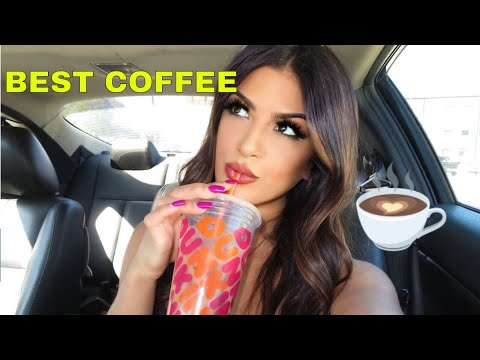 DUNKIN DONUTS ICED COFFEE☕ Iced Latte From Dunkin Donuts REVIEW