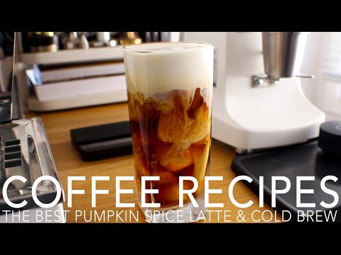 COFFEE RECIPES – The Best Pumpkin Spice Latte & Cold Brew