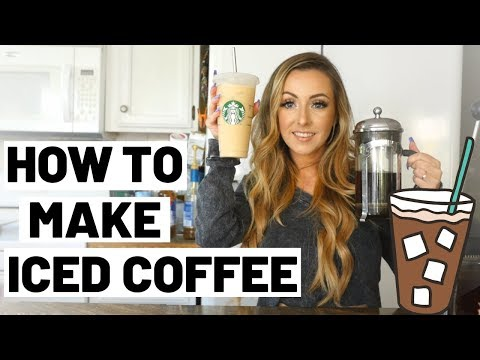 DIY ICED COFFEE AT HOME | ICED COFFEE RECIPE