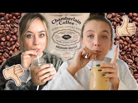"coffee addict tries emma chamberlain's ""chamberlain coffee"""