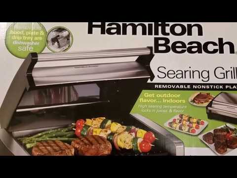 My NEW Hamilton Beach Indoor Searing Grill  REVIEW!!!