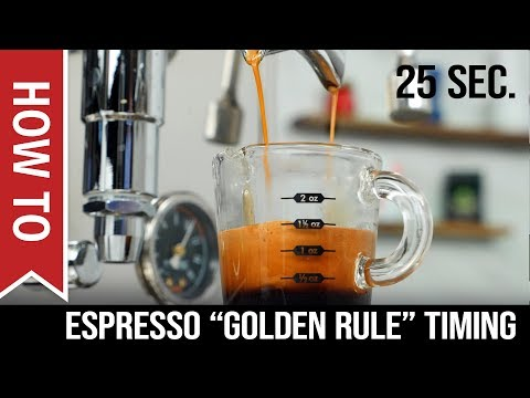 How To: Espresso Shots –  When to Start Timing