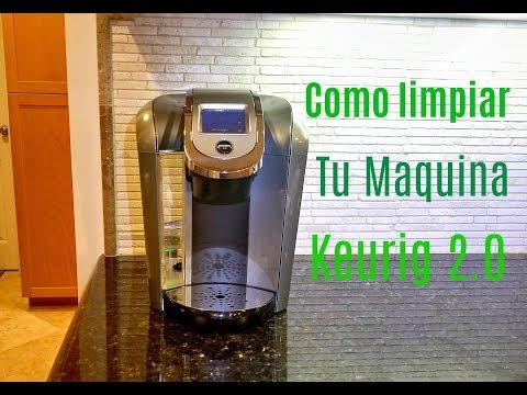 Como limpio la maquina keurig 2.0 vamos a limpiar la maquina de hacer cafe