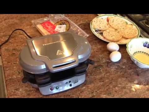 Hamilton Beach Dual Breakfast Sandwich Maker.