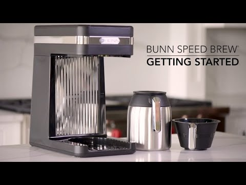 How to setup BUNN Speed Brew Platinum thermal carafe home coffee maker