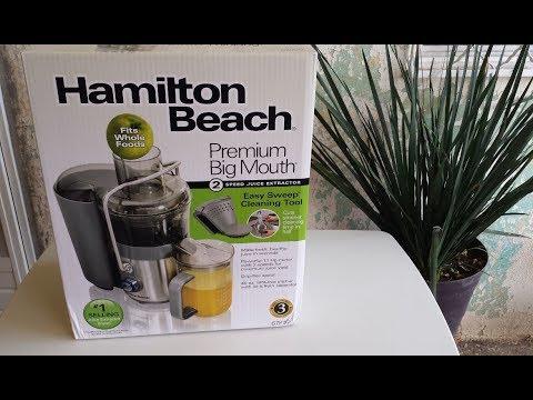 Extractor de jugos Hamilton Beach Unboxing