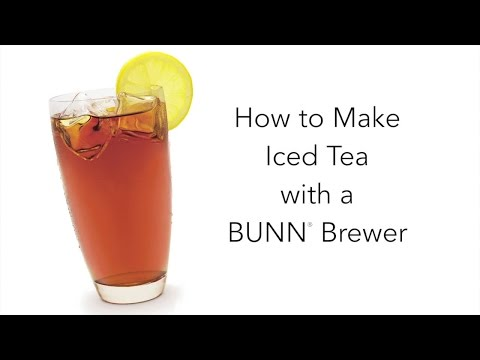 Making Iced Tea with your BUNN Home Coffeemaker