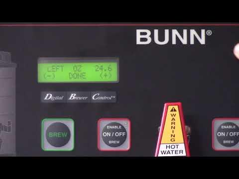 Bunn – Calibrating the Sprayhead & Bypass valve