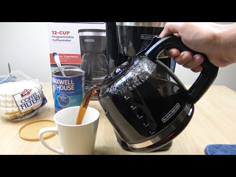 Black + Decker 12 Cup Programmable Coffeemaker Demo