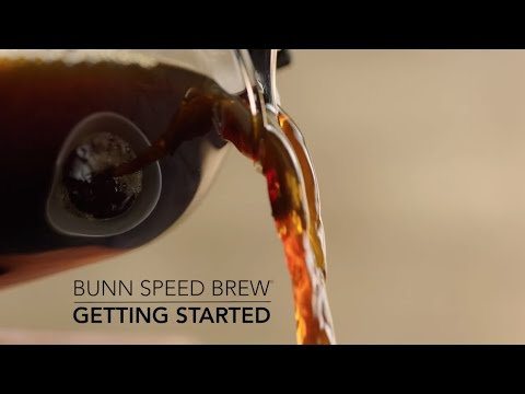 How to setup BUNN Speed Brew home coffee maker with glass carafe