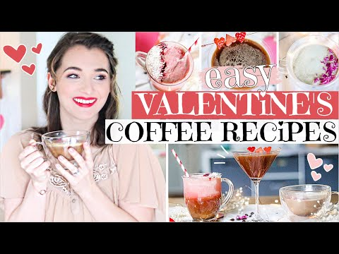 VALENTINE'S DAY COFFEE RECIPES | Easy, Healthy + Affordable Coffee drinks at home | Galentine's 2020