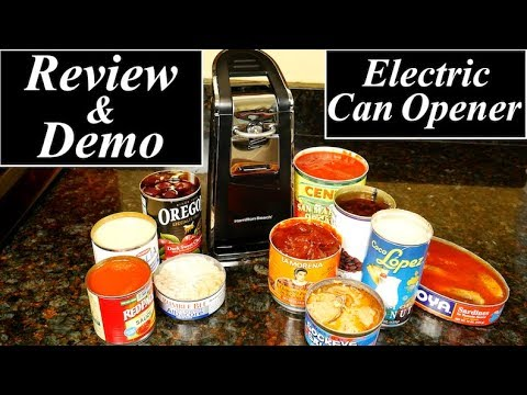 Hamilton Beach Smooth Touch Electric Can Opener Review and Demo