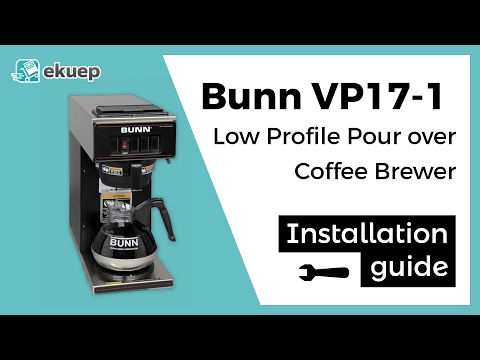 See how easy it is to install  BUNN VP17-1 Low Profile Pour over Coffee Brewer