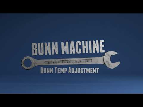 Bunn Machine Temperature Adjustment Newer Model