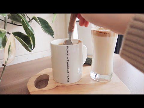 오른손잡이가 왼손잡이 되는 법 ☕️ | 달고나 커피 만들기 | Frothy Coffee Recipe