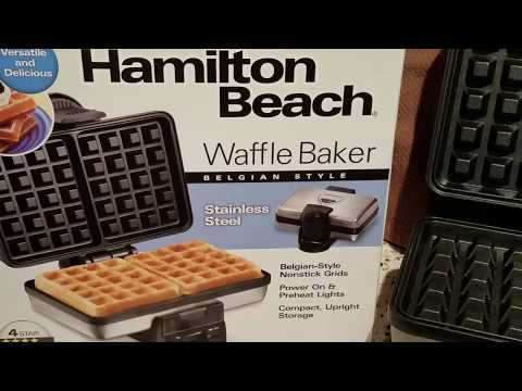 Hamilton Beach Waffle Maker Review + Demo