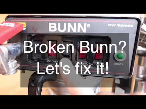 Repairing a BUNN CWTF15 Coffee Maker – Leaking Bunn Coffee Maker