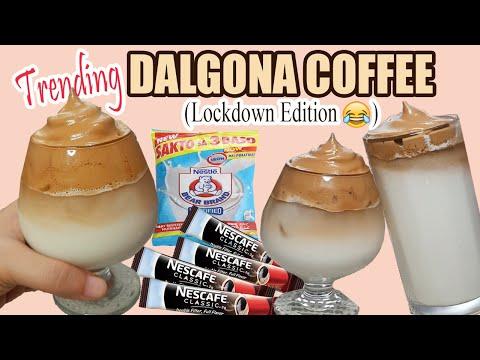 DALGONA COFFEE W/ COFFEE STICK AND BEARBRAND/ ICED COFFEE / PANGMASA RECIPE