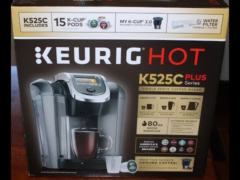 Costco Keurig Hot K525C Plus Series Unboxing, Setup & First Cup of Coffee