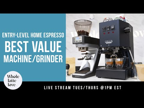 Best Value Entry Level Home Espresso Machine and Grinder Combo