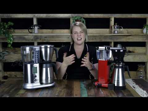 COFFEE MAKER REVIEW: Moccamaster Thermal Brewer vs Breville Precision Brewer | Crema Coffee Garage