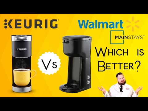 Keurig K Mini Review vs Walmart Mainstays Single Serve K-Cup and Brew