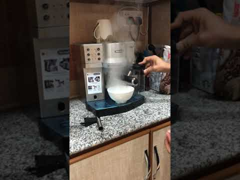 شرح آلة ديلونجي أوتو ماتيك كابتشينو How you can use delonghi Automatic Cappuccino? Part1