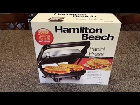 Hamilton Beach Panini Press Unboxing & Review (25460A)