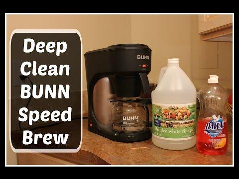 HOW TO:  Deep Clean BUNN Speed Brew coffee maker using vinegar