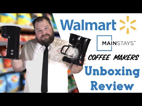 Walmart Mainstays Coffee Makers | K Cup Single Brewer and 5 Cup Brewer Review