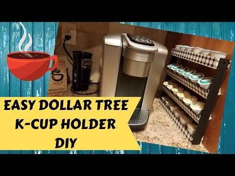 Easy Dollar Tree DIY Keurig K-cup Stand Tutorial | Coffee Pod Holder