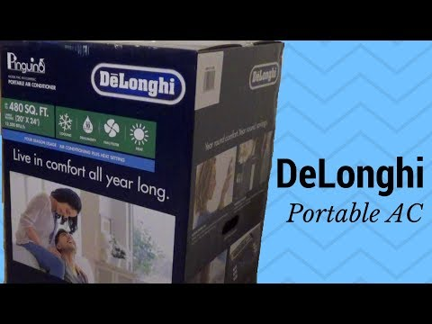 Delonghi AN125HPEKC Portable Room Air Conditioner Unboxing and Review 12,500 BTU