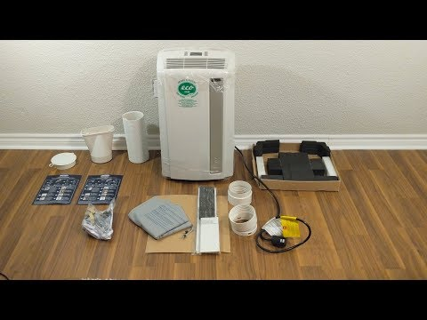 Delonghi Portable Air Conditioner unboxing and set up