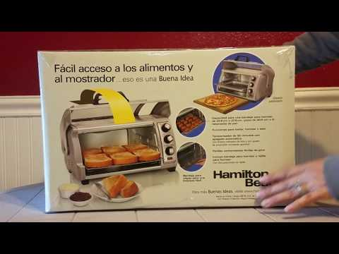 Hamilton Beach 6-Slice Easy Reach Toaster Oven (New Kitchen Gadgets) Roll Top Door. Real Reviews YS