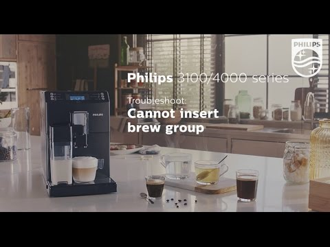 Cannot insert the brew group of my Philips espresso machine.