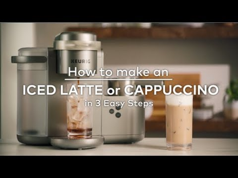 How to make an Iced Latte or Cappuccino in 3 Easy Steps