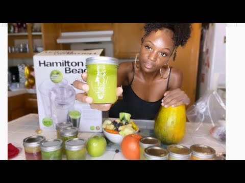 I Drank GREEN JUICE For 30 DAYS This Happened !! (Results?)   Hamilton Beach Big Mouth Juicer Review