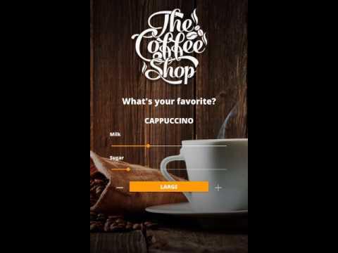 Qt Quick Controls 2 – Coffee machine demo
