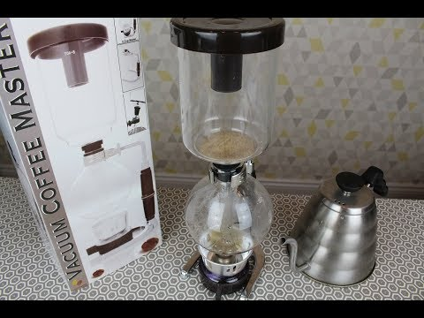 AFFORDABLE Vacuum Coffee Maker COFFEE MASTER SY-5 *REVIEW*