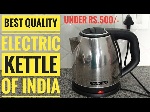 Helicon Strong Stainless Steel Body Tea and Coffee Maker Electric Kettle  Demo, Review and Unboxing.