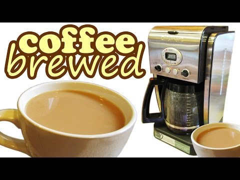 Cuisinart Coffee Maker Brewer – How To Brew Ground Beans Brewing Machine – Hot Drinks Brewers Makers