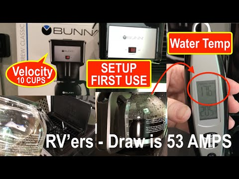 Bunn Velocity 10 Cup Brew GRB coffee maker! How to set it up for First Time Use!