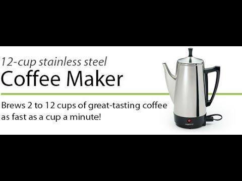 Review 12 Cup Percolator Coffee Maker Stainless Steel Presto 02811 Say Goodbye Keurig ;-)