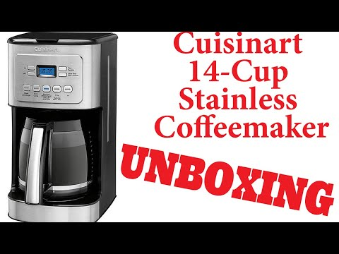 Costco Cuisinart PerfecTemp 14 cup Programmable Coffee Maker UNBOXING