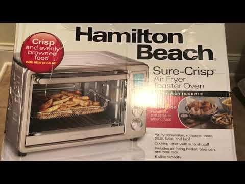 Hamilton Beach Air Fryer Toaster Oven Demo