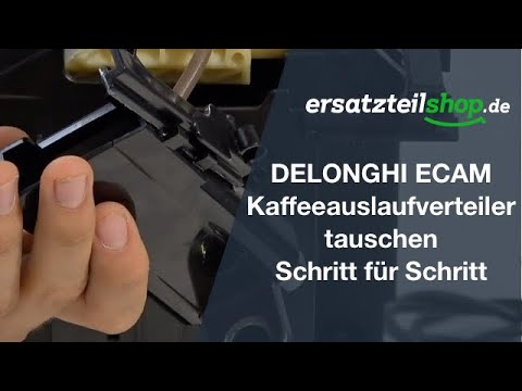 DELONGHI ECAM Kaffeeauslaufverteiler tauschen ausbauen wechseln ersetzen: Reparaturanleitung